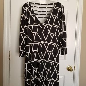 Studio One Black & White Dress with back detail 16